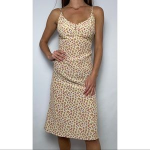 Retro Express Floral Midi Summer Dress